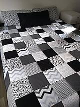 Úžitkový textil - Prehoz čiernobiely - 11137524_