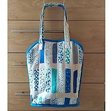 Veľké tašky - Prekrásna EKO TAŠKA KABELKA pre všetky ženy, teenegerky a dievčatá (Krásna modra DeLuxe látka II. XL) - 11140398_
