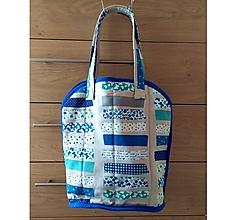 Veľké tašky - Prekrásna EKO TAŠKA KABELKA pre všetky ženy, teenegerky a dievčatá (Krásna modra DeLuxe látka III. XL) - 11140415_