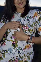Tehotenské/Na dojčenie - Šaty na dojčenie - kolibríky a ruže - 11138701_