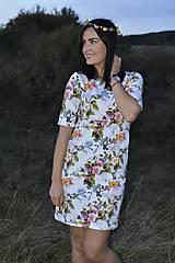 Tehotenské/Na dojčenie - Šaty na dojčenie - kolibríky a ruže - 11138703_