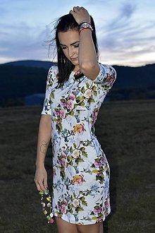 Tehotenské/Na dojčenie - Šaty na dojčenie - kolibríky a ruže - 11138702_