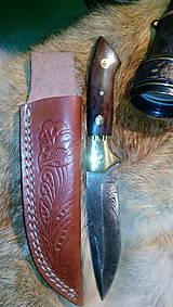 Nože - Damaskový lovecký nôž - 11139756_