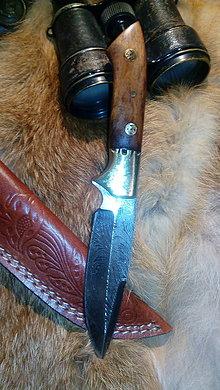Nože - Damaskový lovecký nôž - 11139803_