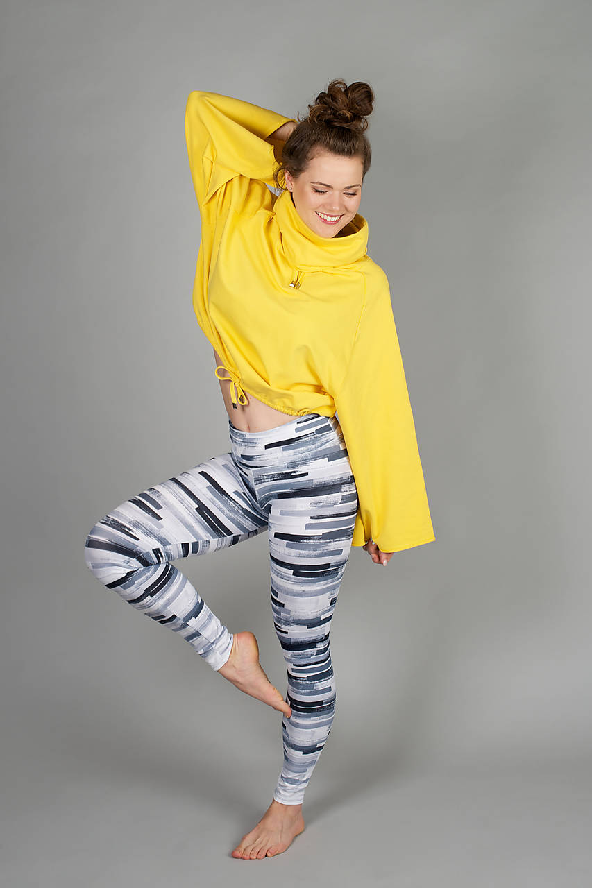 Nohavice - Legíny odtiene sivej - 11140126_