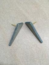 Náušnice - Drevené napichovacie náušnice  - 11139883_