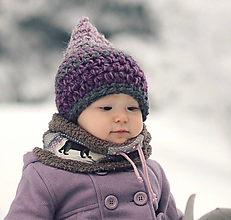 Detské čiapky - Skřítek ze Zamrzlé stráně - 11140145_