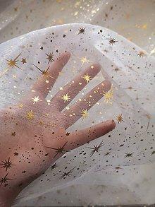 Iný materiál - Vianočná organza -  Vianoce v bielom - 11139476_