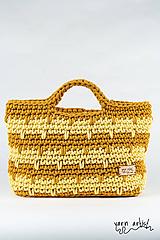 - Háčkovaná taška VANDA, lemon-mustard - 11139949_