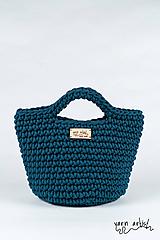Kabelky - Háčkovaná taška LEA, peacock blue - 11140166_