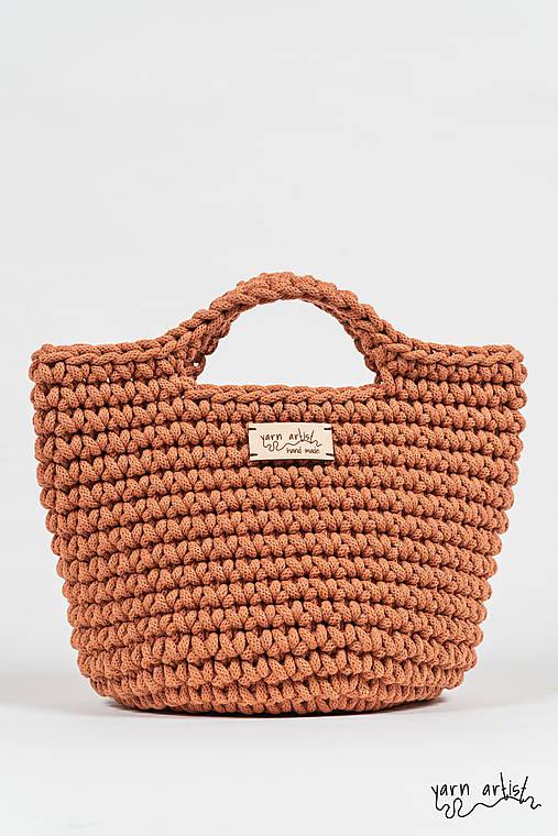 Kabelky - Háčkovaná taška LEA, terracotta - 11140198_