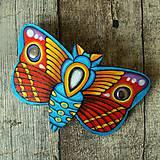 Ozdoby do vlasov - Motýl - kožená spona na vlasy - 11139941_