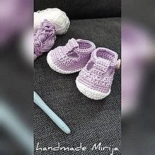 Topánočky - Háčkované baby topánočky - 11141651_