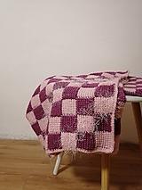 Úžitkový textil - Ručne pletená deka - 11143604_