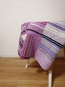 Úžitkový textil - Ručne pletená deka  (Tereza) - 11143622_