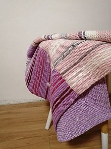Úžitkový textil - Ručne pletená deka  (Domin) - 11143695_