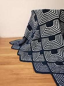 Úžitkový textil - Ručne pletená deka  (Maria) - 11143717_