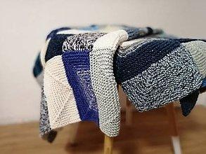 Úžitkový textil - Ručne pletená deka  (Anna) - 11143721_