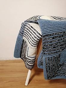 Úžitkový textil - Ručne pletená deka  (Amanda) - 11143723_