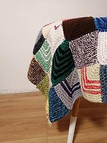 Úžitkový textil - Ručne pletená deka  (Viera) - 11143737_