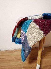 Úžitkový textil - Ručne pletená deka  (Anez) - 11143741_