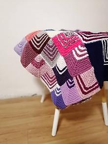 Úžitkový textil - Ručne pletená deka  (Ela) - 11143750_