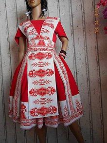 "Šaty - ""Bičianka z doliny"", ľudové šaty, ako vyšívané .... (Červená) - 11141357_"
