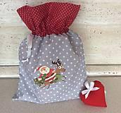 Úžitkový textil - mikulášske, vianočné vrecko IV - 11141574_