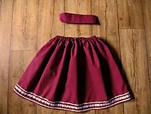 Detské oblečenie - Bodkovaná suknička bordová - 11143776_