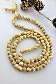 Náhrdelníky - santal náhrdelník dlhý - 11140902_