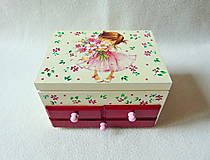Krabičky - Šperkovnica so zrkadlom Samé kvietky - 11140940_