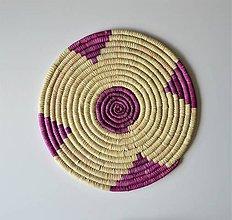 Dekorácie - Africký závesný kruh na stenu 40 cm  / podložka - 11142266_