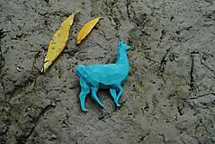 Brošne - Lama tyrkysová - 11141026_