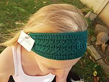 Ozdoby do vlasov - Smaragdovozelená čelenka - 11143222_