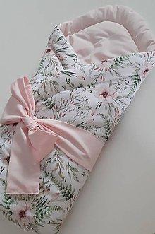 Textil - Zavinovačka Flora Pink - 11143448_