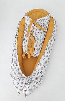 Textil - Set do postieľky, hniezdočko a perinka Jeseň v lese, autorské - 11143475_