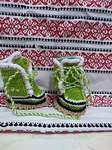Topánočky - Papučky zelené - 11141989_