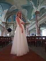 Šaty - Svadobné šaty s veľkou tylovou kruhovou sukňou - 11143822_