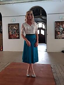Sukne - Spoločenská sukňa do A rôzne farby s ozdobnými gombíkami - 11143837_