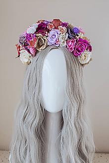 Ozdoby do vlasov - Kvetinová čelenka z kolekcie 𝕾𝖚𝖌𝖆𝖗 𝕾𝖐𝖚𝖑𝖑 𝕳𝖆𝖑𝖑𝖔𝖜𝖊𝖊𝖓 - 11143245_