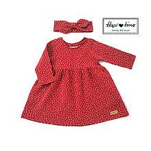 Detské oblečenie - Bodkové šatočky v červenej farbe - 11142937_