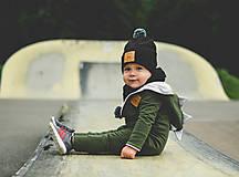 Detské oblečenie - Overal Dino khaki  - 11140868_