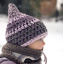 Detské čiapky - Skřítek ze Sněhové pláně  (obvod do 53 cm) - 11143016_