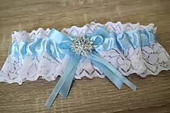 Bielizeň/Plavky - svadobný podväzok - 11143371_