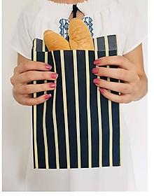 Úžitkový textil - Voskované vrecúško Pásik - 11141638_