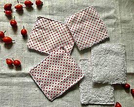 Úžitkový textil - Látkové odličovacie tampóny Bodka - 11142213_