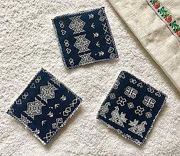 Úžitkový textil - Látkové odličovacie tampóny Modrotlačky - 11142217_