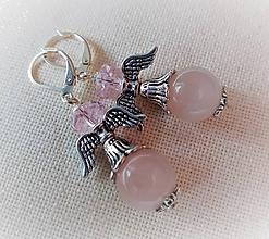 Náušnice - Anjelské náušničky s ruženínom - 11141235_