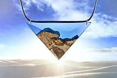 Náhrdelníky - Egyptský Amulet- Drevený nahrdelník modrý/tyrkys - 11142389_