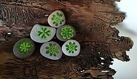 """Drobnosti - Maľovaný kamienok """"Štvorlístok"""" - 11143656_"""